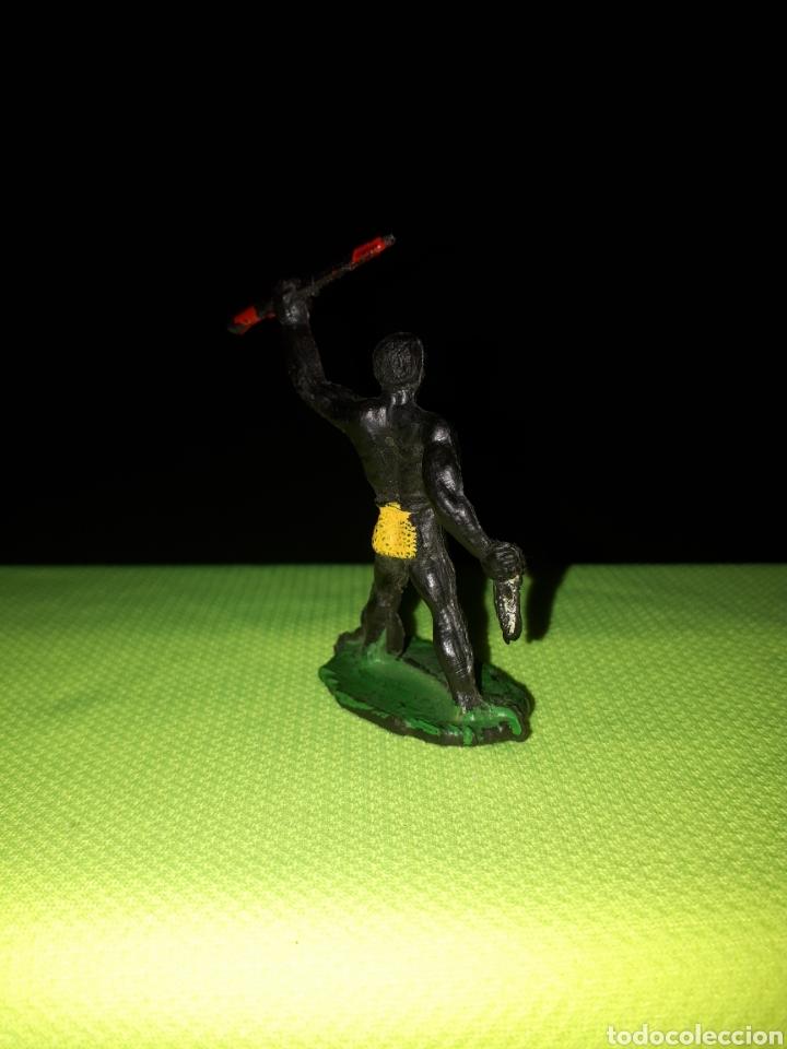 Figuras de Goma y PVC: SOTORRES DIFICIL FIGURA GUERRERO AFRICANO - Foto 3 - 168927026