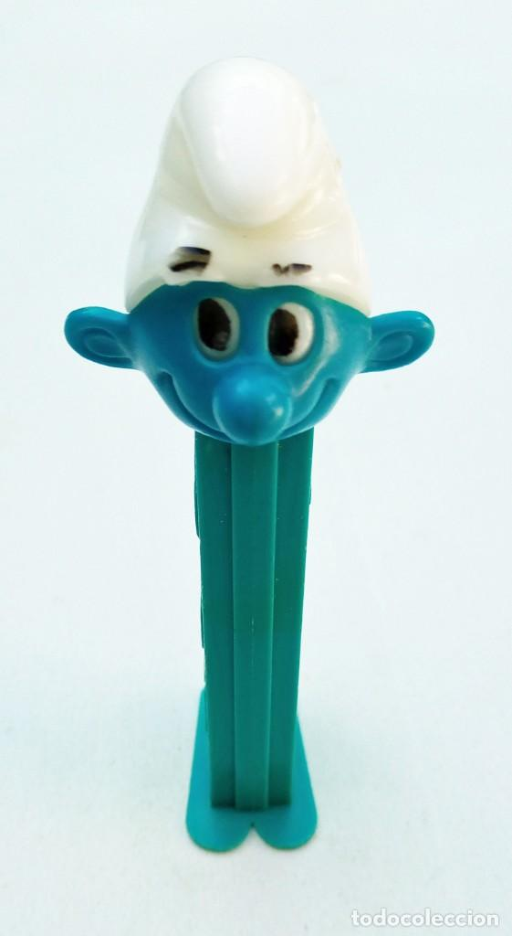DISPENSADOR PEZ - PITUFO - 1986 - U.S. PATENT 3.942.683 (Juguetes - Figuras de Gomas y Pvc - Dispensador Pez)