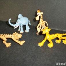 Figuras de Goma y PVC: ANIMALES SELVA GOSNELL JIRAFA ELEFANTE TIGRE LEOPARDO. Lote 169009792