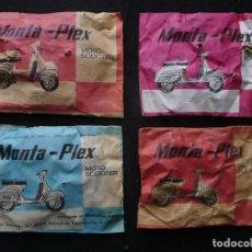 Figuras de Goma y PVC: MONTA-PLEX=MOTO SCOOTER-COLECCION DE MODELOS A ESCALA ORIGINAL(4 UNIDADES). Lote 167942464