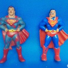 Figuras de Goma y PVC: FIGURAS PVC SUPERMÁN EURA SPAIN Y BOOTLEG FALSA FAKE CAPA PEGADA Y CAPA SUELTA. Lote 169402046