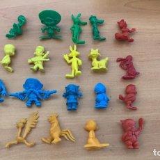 Figuras de Goma y PVC: 20 FIGURAS . COLECCIÓN COMPLETA FIGURAS DUNKIN -WARNER AÑOS 70 PROMEDIADA COLORES ORIGINALES ESPAÑA. Lote 169408464