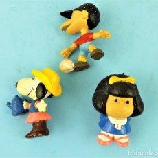 Figuras de Goma y PVC: MAFALDA FELIPE Y SNOOPY. Lote 169629500