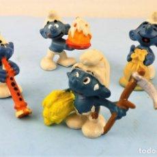 Figuras de Goma y PVC: LOS PITUFOS LOTE DE CUATRO PERSONAJES. Lote 169629988