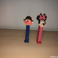Dispensador Pez: LOTE DE DOS ANTIGUOS DISPENSADORES DE CARAMELOS PEZ. MINNIE Y BLAS. Lote 169686676