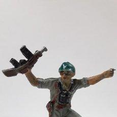 Figuras de Goma y PVC: SOLDADO AMERICANO - MARINE . REALIZADO POR PECH . AÑOS 50 EN GOMA. Lote 169713572