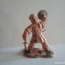 Figuras de Goma y PVC: REAMSA ORIGINAL SOLDADO ARABE MEDIEVAL SERIE EL CID CAMPEADOR GUERRERO MORO REF 286 AÑOS 60/70. PTOY. Lote 169917680