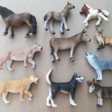 Figuras de Goma y PVC: LOTE FIGURAS GOMA ANIMALES SCHLEICH. Lote 169934280