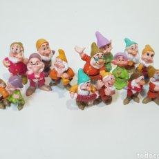 Figuras de Goma y PVC: LOTE 15 ENANITOS / BLANCANIEVES Y LOS SIETE ENANITOS / DISNEY. Lote 169936816