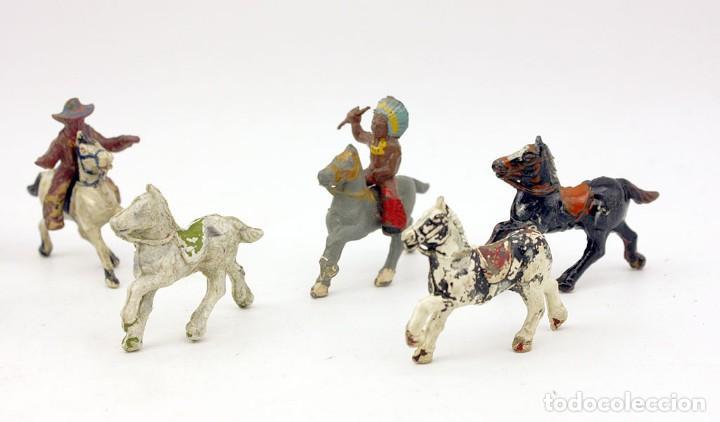Figuras de Goma y PVC: INDIOS Y AMERICANOS - ALCA CAPELL - 45mm - GOMA - LOTE DE FIGURAS: VAQUEROS, INDIOS Y CABALLOS - Foto 2 - 169944196