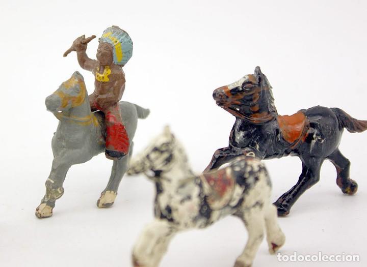 Figuras de Goma y PVC: INDIOS Y AMERICANOS - ALCA CAPELL - 45mm - GOMA - LOTE DE FIGURAS: VAQUEROS, INDIOS Y CABALLOS - Foto 3 - 169944196