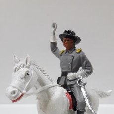 Figuras de Goma y PVC: OFICIAL CONFEDERADO A CABALLO . REALIZADO POR JECSAN . AÑOS 60. Lote 169966264