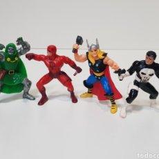 Figuras de Goma y PVC: LOTE 4 FIGURAS YOLANDA / SUPER HEROES / AÑOS 90 / THOR / THE PUNISHER / DAREDEVIL /. Lote 170102442