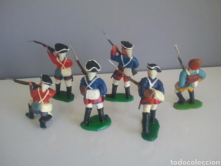 Figuras de Goma y PVC: Guerra revolución independencia americana,BMC soldados británicos,americanos y francés esc. britains - Foto 2 - 118255502