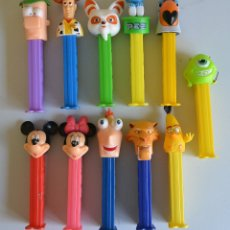 Dispensador Pez: LOTE 11 X DISPENSADORES PEZ DIFERENTES WOODY PITUFO ANGRY BIRDS MICKEY MOUSE ECT . Lote 170254932