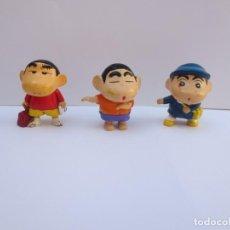 Figuras de Goma y PVC: TRES FIGURAS DE SHIN CHAN. Lote 170334460