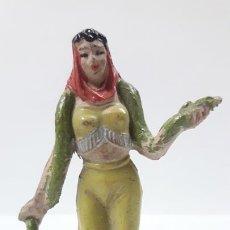 Figuras de Goma y PVC: ENCANTADORA DE SERPIENTES . SERIE CIRCO . REALIZADO POR JECSAN . AÑOS 50 EN GOMA. Lote 170341180