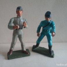 Figuras de Goma y PVC: STARLUX 2 SOLDADOS DE LA GUERRA CIVIL AMERICANA. NORDISTA Y SUDISTA. OESTE AÑOS 70.PTOY. Lote 95305991