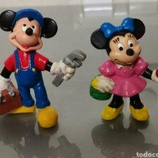 Figuras de Goma y PVC: 2X FIGURAS PVC MICKEY Y MINNIE MOUSE BULLYLAND. Lote 170439428