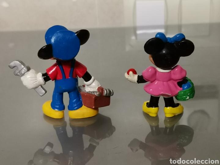 Figuras de Goma y PVC: 2x FIGURAS PVC MICKEY Y MINNIE MOUSE BULLYLAND - Foto 2 - 170439428