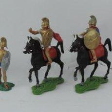 Figuras de Goma y PVC: 7 FIGURAS AOHNAS SOLDADOS GRIEGOS ATHENAS GRECE, BRAZOS MOVILES Y EL CASCO SE LES PUEDE QUITAR, MIDE. Lote 170492360