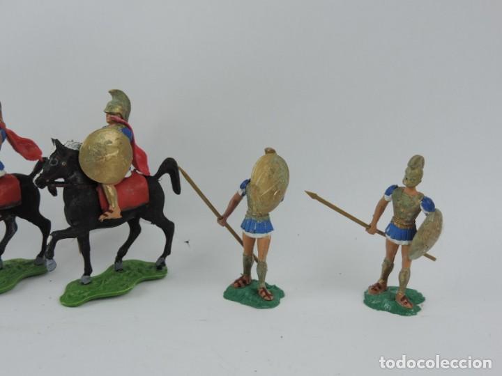 Figuras de Goma y PVC: 7 FIGURAS AOHNAS SOLDADOS GRIEGOS ATHENAS GRECE, BRAZOS MOVILES Y EL CASCO SE LES PUEDE QUITAR, MIDE - Foto 2 - 170492360