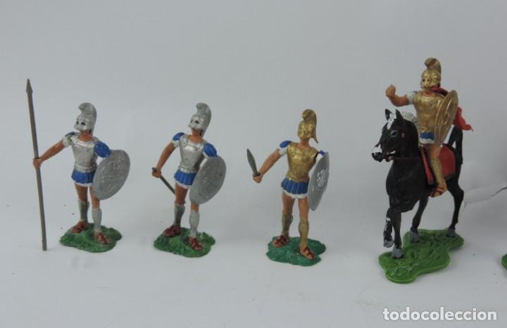 Figuras de Goma y PVC: 7 FIGURAS AOHNAS SOLDADOS GRIEGOS ATHENAS GRECE, BRAZOS MOVILES Y EL CASCO SE LES PUEDE QUITAR, MIDE - Foto 3 - 170492360
