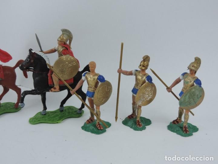 Figuras de Goma y PVC: 7 FIGURAS AOHNAS SOLDADOS GRIEGOS ATHENAS GRECE, BRAZOS MOVILES Y EL CASCO SE LES PUEDE QUITAR, MIDE - Foto 2 - 170492560