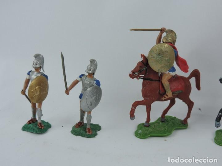 Figuras de Goma y PVC: 7 FIGURAS AOHNAS SOLDADOS GRIEGOS ATHENAS GRECE, BRAZOS MOVILES Y EL CASCO SE LES PUEDE QUITAR, MIDE - Foto 3 - 170492560