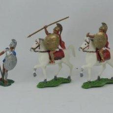 Figuras de Goma y PVC: 7 FIGURAS AOHNAS SOLDADOS GRIEGOS ATHENAS GRECE, BRAZOS MOVILES Y EL CASCO SE LES PUEDE QUITAR, MIDE. Lote 170493824