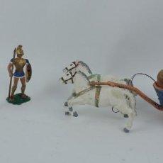 Figuras de Goma y PVC: 3 FIGURAS AOHNAS SOLDADOS GRIEGOS ATHENAS GRECE, CUADRIGA, BRAZOS MOVILES Y EL CASCO SE LES PUEDE QU. Lote 170494232