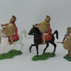Figuras de Goma y PVC: 7 FIGURAS AOHNAS SOLDADOS GRIEGOS ATHENAS GRECE, BRAZOS MOVILES Y EL CASCO SE LES PUEDE QUITAR, MIDE. Lote 170494616