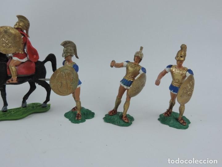 Figuras de Goma y PVC: 7 FIGURAS AOHNAS SOLDADOS GRIEGOS ATHENAS GRECE, BRAZOS MOVILES Y EL CASCO SE LES PUEDE QUITAR, MIDE - Foto 2 - 170494616