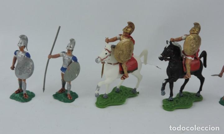 Figuras de Goma y PVC: 7 FIGURAS AOHNAS SOLDADOS GRIEGOS ATHENAS GRECE, BRAZOS MOVILES Y EL CASCO SE LES PUEDE QUITAR, MIDE - Foto 3 - 170494616