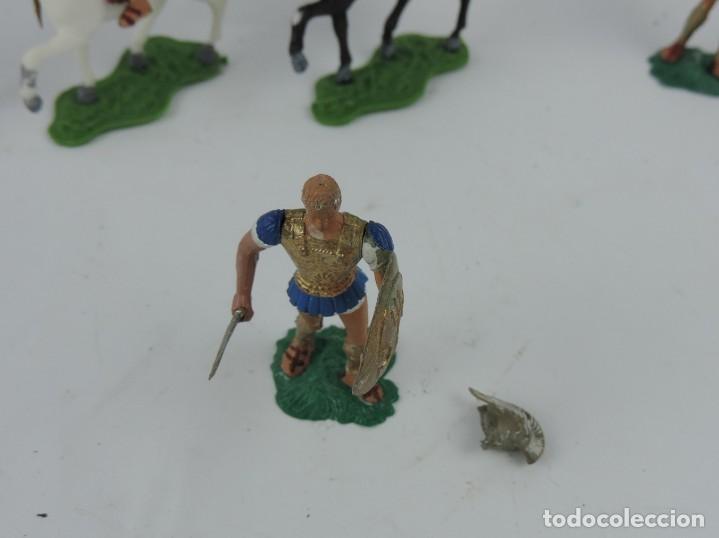 Figuras de Goma y PVC: 7 FIGURAS AOHNAS SOLDADOS GRIEGOS ATHENAS GRECE, BRAZOS MOVILES Y EL CASCO SE LES PUEDE QUITAR, MIDE - Foto 4 - 170494616
