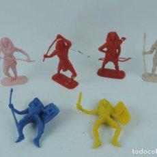 Figuras de Goma y PVC: 6 EGIPCIOS DE JECSAN, REALIZADOS EN PLASTICO, MIDEN 8 CMS DE ALTO.. Lote 170504856