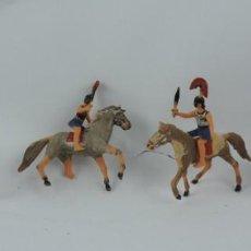 Figuras de Goma y PVC: CUATRO CABALLOS Y CENTURIONES, LEGION ROMANA, POSIBLEMENTE REAMSA O JECSAN, EN PLASTICO.. Lote 170506884