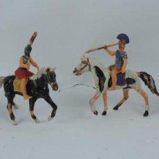 Figuras de Goma y PVC: CUATRO CABALLOS Y CENTURIONES, LEGION ROMANA, POSIBLEMENTE REAMSA O JECSAN, EN PLASTICO.. Lote 170507112