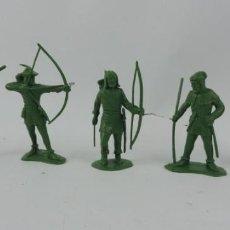Figuras de Goma y PVC: 5 FIGURAS DE LA SERIE ROBIN HOOD. MIDEN 6 CMS. ARQUERO, LITTLE JOHN. REALIZADOS EN PLASTICO.. Lote 170507716