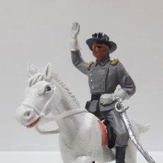 Figuras de Goma y PVC: OFICIAL CONFEDERADO A CABALLO . REALIZADO POR JECSAN . AÑOS 60. Lote 170522264