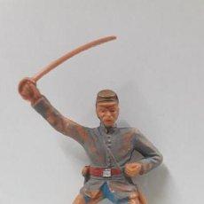 Figuras de Goma y PVC: OFICIAL CONFEDERADO PARA CABALLO . FIGURA REAMSA . ORIGINAL AÑOS 60. Lote 170522792