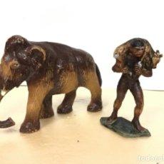 Figuras de Goma y PVC: FIGURA PREHISTORICO MAMUT STARLUX CAVERNICOLA ESCALA JECSAN PREHISTORICOS 60 MM NO REAMSA COMANSI. Lote 170552224