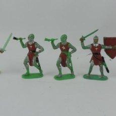 Figuras de Goma y PVC: 6 FIGURAS MEDIEVALES REALIZADAS EN PLASTICO, CRUZADOS, JECSAN, REAMSA?, MIDE 7 CMS DE ALTO.. Lote 170581725