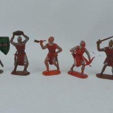 Figuras de Goma y PVC: 7 FIGURAS MEDIEVALES REALIZADAS EN PLASTICO, CRUZADOS, JECSAN, REAMSA?, MIDE 7 CMS DE ALTO.. Lote 170581910