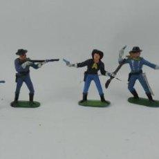 Figuras de Goma y PVC: 7 FIGURAS DEL SEPTIMO DE CABALLERIA, CABALLERIA REAMSA, JECSAN?, MIDEN 7 CMS.. Lote 170582175