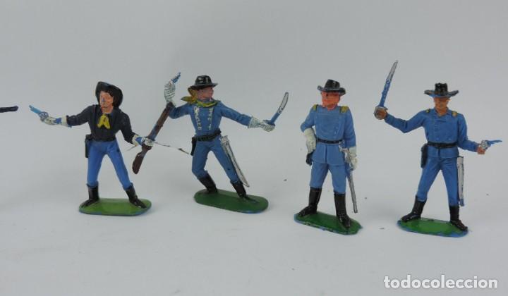Figuras de Goma y PVC: 7 FIGURAS DEL SEPTIMO DE CABALLERIA, CABALLERIA REAMSA, JECSAN?, MIDEN 7 CMS. - Foto 2 - 170582175