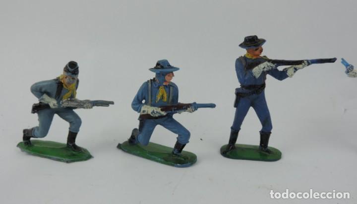Figuras de Goma y PVC: 7 FIGURAS DEL SEPTIMO DE CABALLERIA, CABALLERIA REAMSA, JECSAN?, MIDEN 7 CMS. - Foto 3 - 170582175