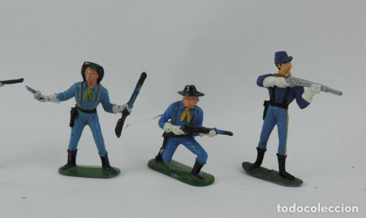 Figuras de Goma y PVC: 6 FIGURAS DEL SEPTIMO DE CABALLERIA, CABALLERIA REAMSA, JECSAN?, MIDEN 7 CMS. - Foto 2 - 170582525