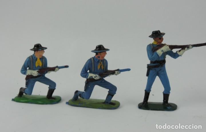 Figuras de Goma y PVC: 6 FIGURAS DEL SEPTIMO DE CABALLERIA, CABALLERIA REAMSA, JECSAN?, MIDEN 7 CMS. - Foto 3 - 170582525