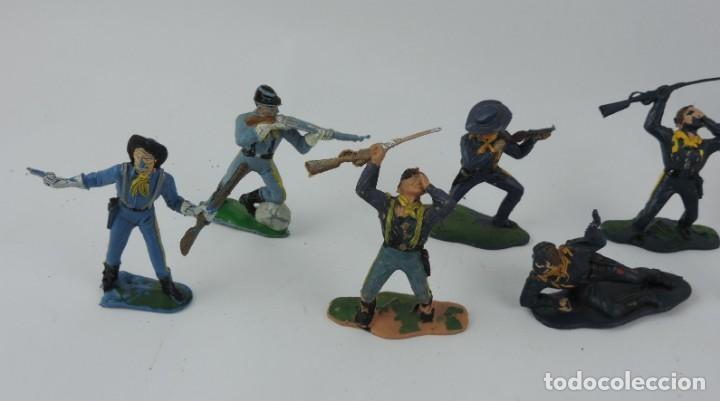 Figuras de Goma y PVC: 10 FIGURAS DEL SEPTIMO DE CABALLERIA, CABALLERIA REAMSA, JECSAN?, MIDEN 7 CMS. - Foto 2 - 170583320
